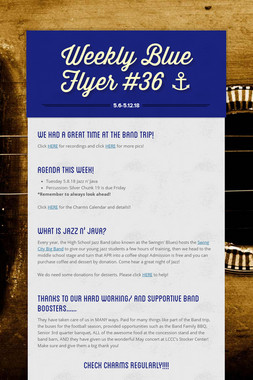 Weekly Blue Flyer #36   ⚓️