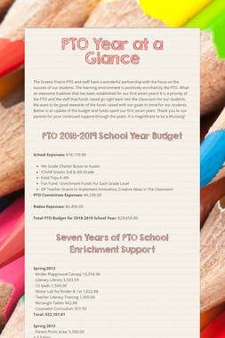 PTO Year at a Glance