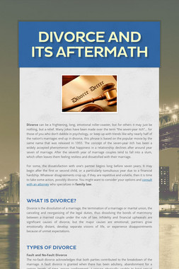 Divorce and Its Aftermath