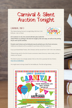 Carnival & Silent Auction Tonight