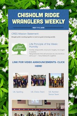Chisholm Ridge Wranglers Weekly