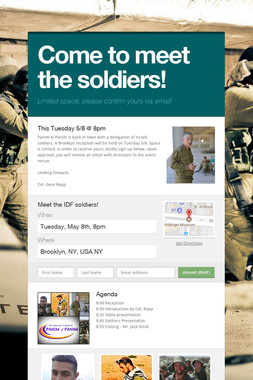 Come to meet the soldiers!