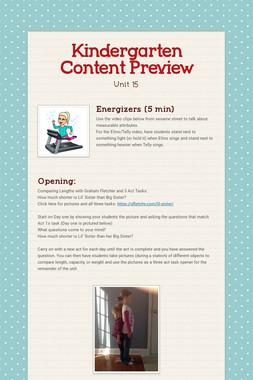 Kindergarten Content Preview