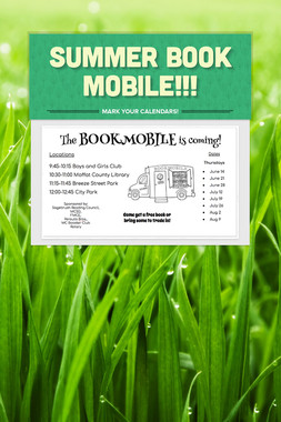 Summer Book Mobile!!!