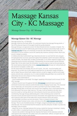Massage Kansas City - KC Massage