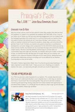 Principal's Page