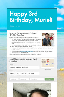 Happy 3rd Birthday, Muriel!