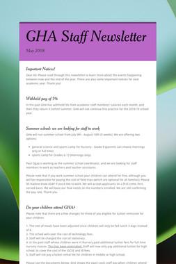 GHA Staff Newsletter