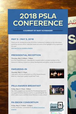 2018 PSLA Conference
