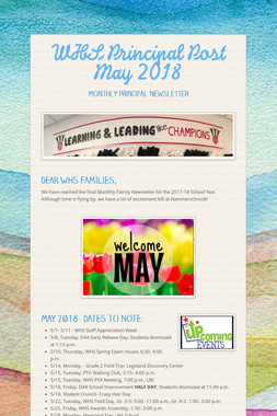WHS Principal Post  May 2018