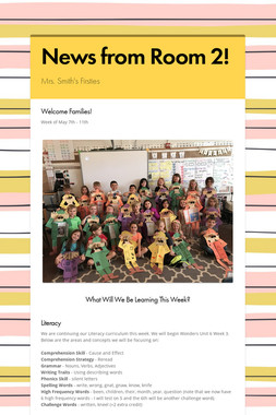 News from Room 2!