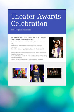 Theater Awards Celebration
