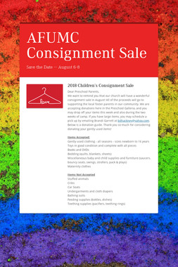 AFUMC Consignment Sale