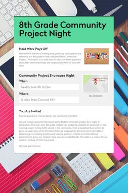 8th Grade Community Project Night