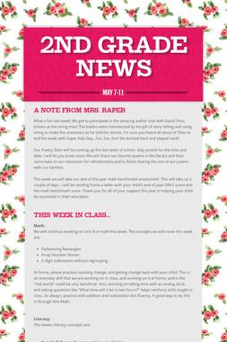 2nd Grade News