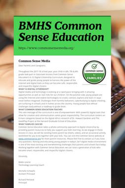 BMHS Common Sense Education