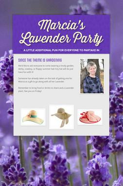 Marcia's Lavender Party