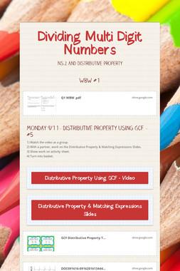 Dividing Multi Digit Numbers