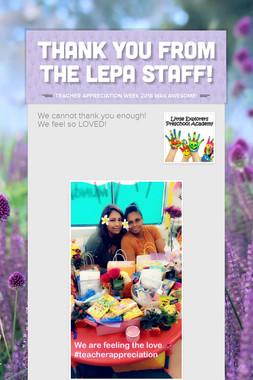 Thank You from The LEPA Staff!
