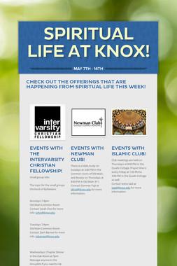 Spiritual Life at Knox!