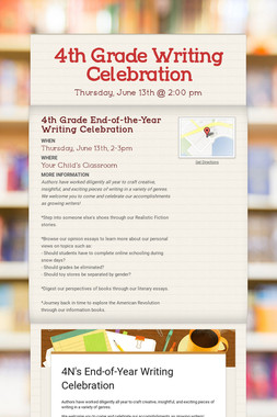 4th Grade Writing Celebration