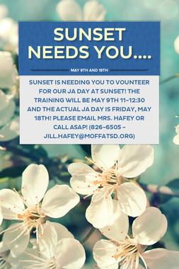 SUNSET NEEDS YOU....