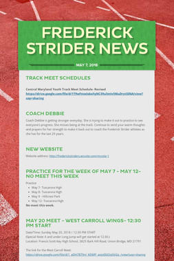 Frederick Strider News