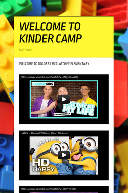 WELCOME TO KINDER CAMP
