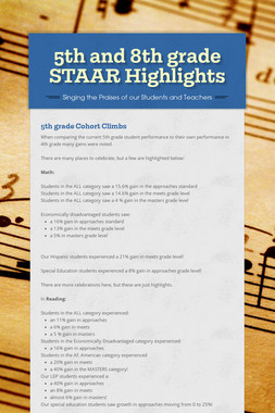 5th and 8th grade STAAR Highlights