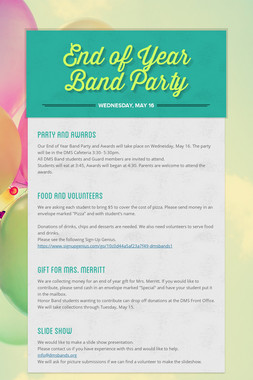 End of Year Band Party