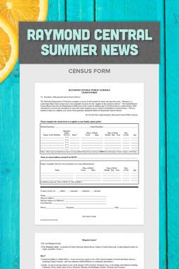 Raymond Central Summer News