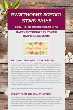 Hawthorne School News: 5/11/18