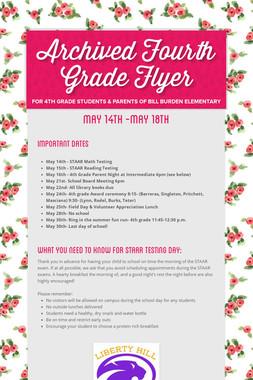 Fourth Grade Flyer