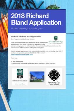 2018 Richard Bland Application