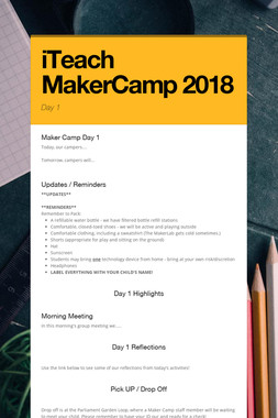 iTeach MakerCamp 2018