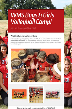 WMS Boys & Girls Volleyball Camp!