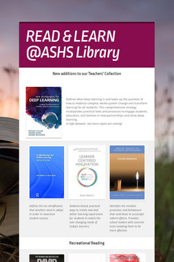 READ & LEARN @ASHS Library