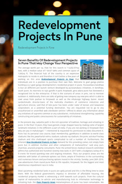Redevelopment Projects In Pune