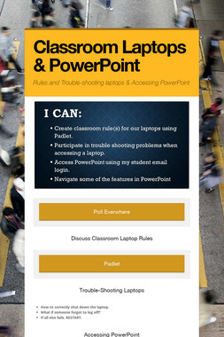 Classroom Laptops & PowerPoint