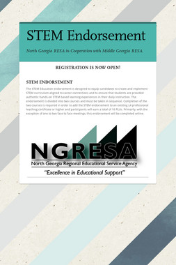 STEM, Coaching & TLE Endorsements
