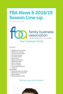 FBA News & 2018/19 Season Line-up