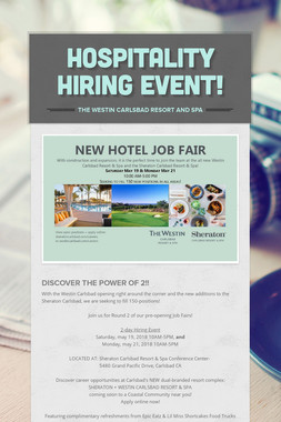Hospitality Hiring Event!