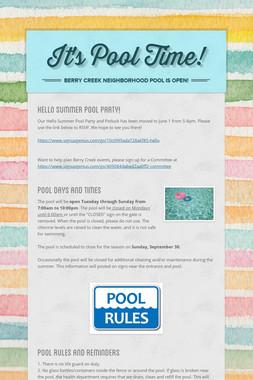 It's Pool Time!
