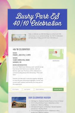 Bushy Park ES     40/10 Celebration