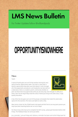 LMS News Bulletin