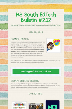 HS South EdTech Bulletin #2.12