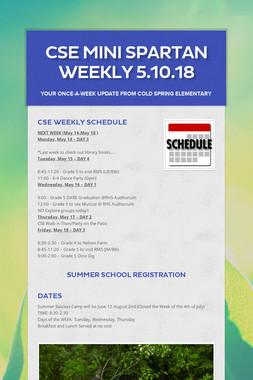 CSE Mini Spartan Weekly 5.10.18