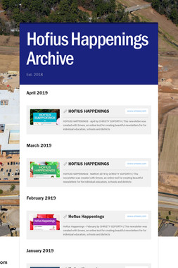 Hofius Happenings Archive