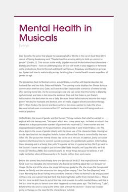 Mental Health in Musicals