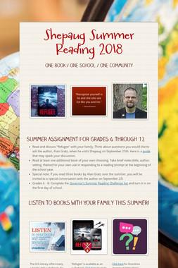 Shepaug Summer Reading 2018